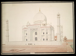 West side of the Taj Mahal, Agra
